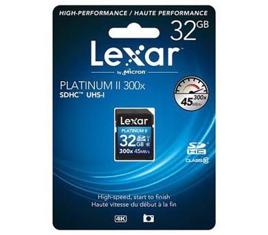 LEXAR 32GB SDHC 300x PlatinumII Class 10 + DOPRAVA ZDARMA