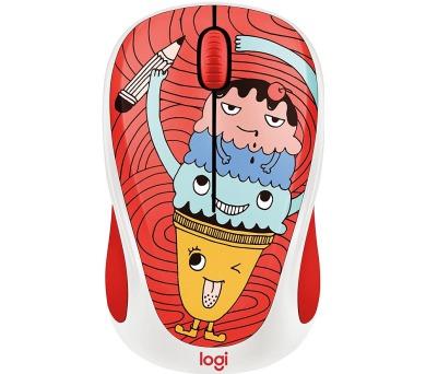 Logitech® Wireless Mouse M238 - Doodle Collection - TRIPLE SCOOP - EMEA