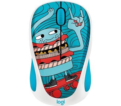 Logitech® Wireless Mouse M238 - Doodle Collection - SKATEBURGER - EMEA