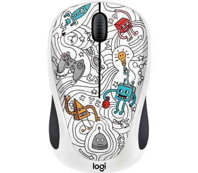 Logitech® Wireless Mouse M238 - Doodle Collection - TECHIE WHITE - EMEA
