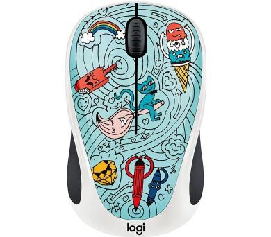 Logitech® Wireless Mouse M238 - Doodle Collection - BAE-BEE BLUE - EMEA