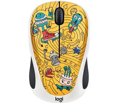 Logitech® Wireless Mouse M238 - Doodle Collection - GO-GO GOLD - EMEA