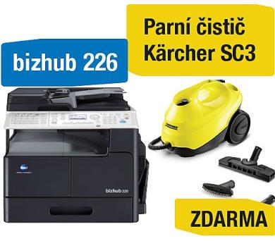 Minolta Bizhub 226 set1 (DF-625+AD-509+MK-749+NC-504) + Kärcher SC3 parní čistič (A8A50211) + DOPRAVA ZDARMA