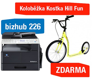 Minolta Bizhub 226 + Koloběžka Kostka Hill Fun (A8A5021) + DOPRAVA ZDARMA