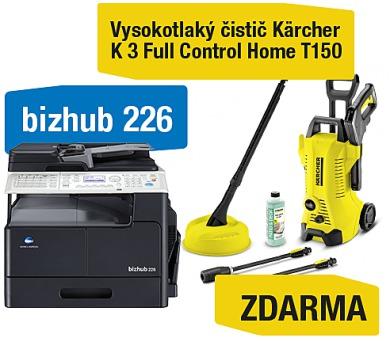 Minolta Bizhub 226 set1 (DF-625+AD-509+MK-749+NC-504) + Kärcher vysokotlaký čistič K 3 Full control Home (A8A50211) + DOPRAVA ZDARMA