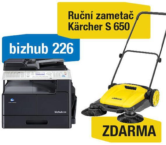 Minolta Bizhub 226 set1 (DF-625+AD-509+MK-749+NC-504) + Kärcher S 650 ruční zametač (A8A50211) + DOPRAVA ZDARMA