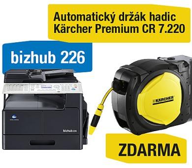 Minolta Bizhub 226 set1 (DF-625+AD-509+MK-749+NC-504) + Kärcher Premium CR 7.220 Automatický držák hadic (A8A50211) + DOPRAVA ZDARMA