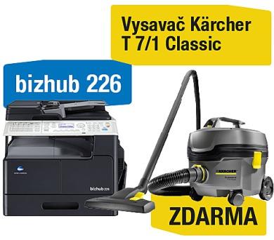 Minolta Bizhub 226 set1 (DF-625+AD-509+MK-749+NC-504) + Kärcher vysavač T 7/1 Classic (A8A50211) + DOPRAVA ZDARMA