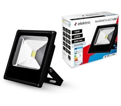 LED reflektor SMD 10W/49W 6000K černý FL001CW