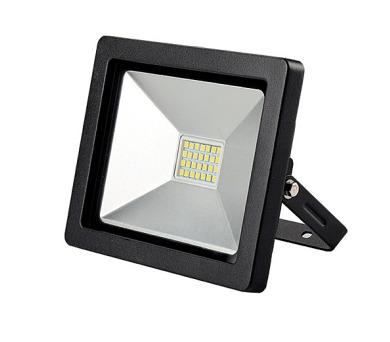 LED reflektor 30W plochý černý 2100lm