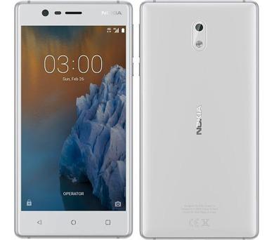 Nokia 3 White Silver Dual SIM + DOPRAVA ZDARMA