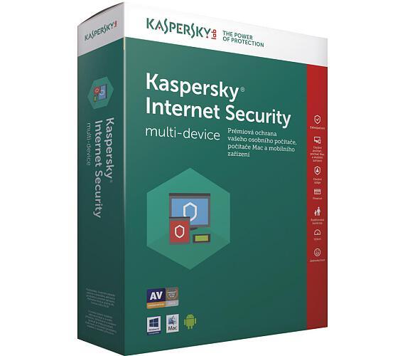 Kaspersky Internet Security multi-device 2017 CZ + DOPRAVA ZDARMA
