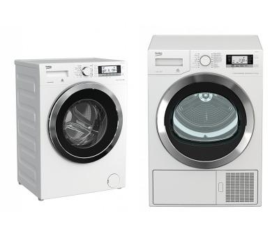 SET Pračka BEKO WTV 8735 XC0ST + Sušička BEKO DE 8635 RX0