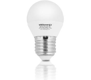 WE LED žárovka SMD2835 G45 E27 5W teplá bílá
