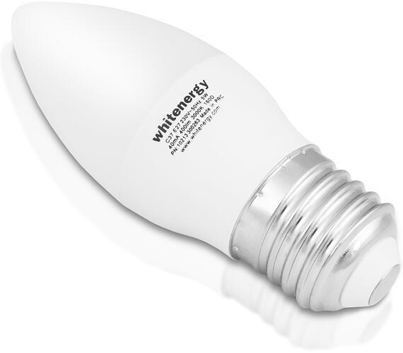 WE LED žárovka SMD2835 C37 E27 5W teplá bílá