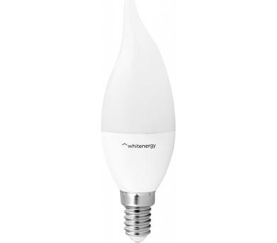 WE LED žárovka SMD2835 C37L E14 7W teplá bílá