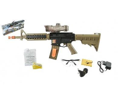 Puška pistole plast 68cm na vodní kuličky M16 s doplňky na baterie v krabici 69x26x7cm + DOPRAVA ZDARMA