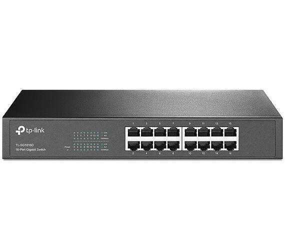 TP-LINK TL-SG1016D/ switch 16x 10/100/1000Mbps/ desktop/ rack-mount + DOPRAVA ZDARMA