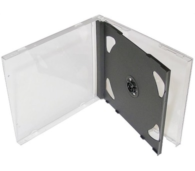 COVER IT box jewel + tray/ plastový obal na 2 CD/ 10mm/ černý