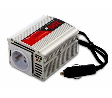 EUROCASE měnič napětí AC/DC 12V/230V/ 200W/ USB