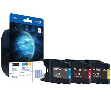 BROTHER inkoustová náplň LC-1280XLRBWBP/ multipack/ Tři barvy (LC1280XLRBWBP)