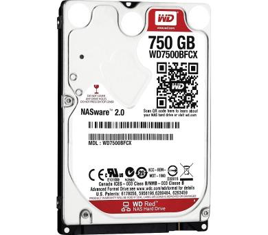 "WD 750GB HDD RED/ WD7500BFCX/ SATA600/ Interní 2,5""/ IntelliPower/ 16MB"