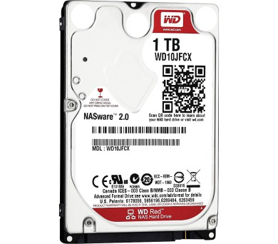 """WD HDD RED 1TB / WD10JFCX/ SATA 6Gb/s / Interní 2,5""""/ IntelliPower/ 16MB"""