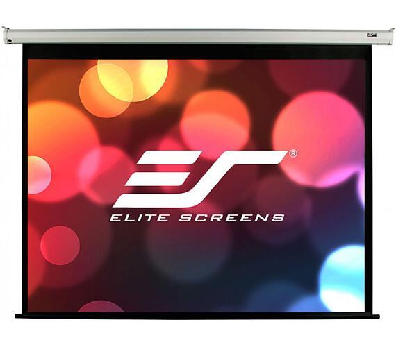 """ELITE SCREENS plátno elektrické motorové 84"""" (213,4 cm)/ 16:9/ 104,6 x 185,9 cm/ Gain 1,1/ case bílý + DOPRAVA ZDARMA"""
