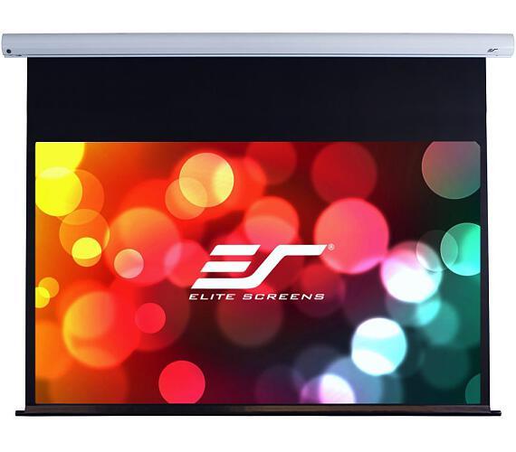"""ELITE SCREENS plátno elektrické motorové 110"""" (279,4 cm)/ 16:9/ 137,2 x 243,8 cm/ case bílý/ 24"""" drop/ Fiber Glass"""