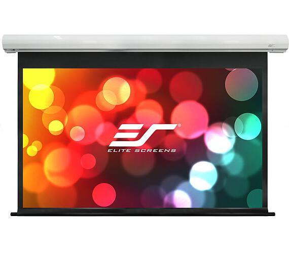 """ELITE SCREENS plátno elektrické motorové 120"""" (304,8 cm)/ 16:9/ 149,6 x 265,7 cm/ case bílý/ 10"""" drop/ Fiber Glass"""