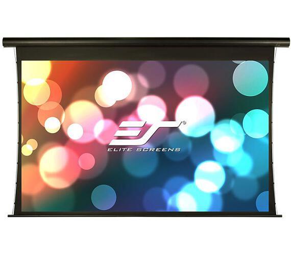 """ELITE SCREENS plátno elektrické motorové 110"""" (279 cm)/ 16:9/137,2 x 243,8 cm/hliníkový case černý/24"""" drop/Fiber Glass + DOPRAVA ZDARMA"""