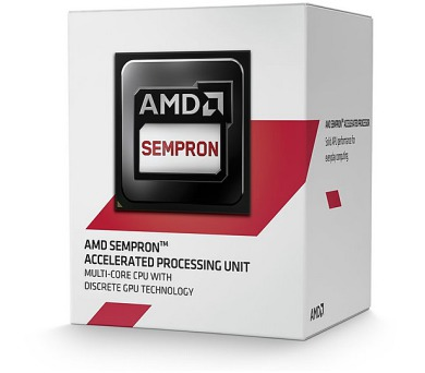 AMD Sempron X2 2650 / Kabini / LGA AM1 / max. 1,45 GHz / 2C / 1MB / 25W TDP / BOX
