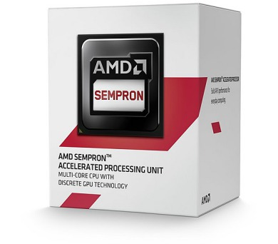 AMD Sempron X4 3850 / Kabini / LGA AM1 / max. 1,3 GHz / 4C / 2MB / 25W TDP / BOX