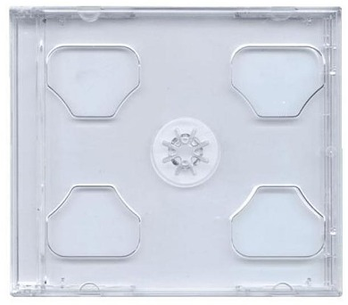 COVER IT box jewel + tray/ plastový obal na 2 CD/ 10mm/ čirý