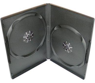 COVER IT box na 2ks DVD médií/ 7mm/ ULTRA slim/ A-kvalita/ černý