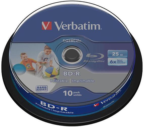 VERBATIM BD-R Blu-Ray 25GB/ 6x/ HTL WIDE printable/ 10pack/ spindle (43804)