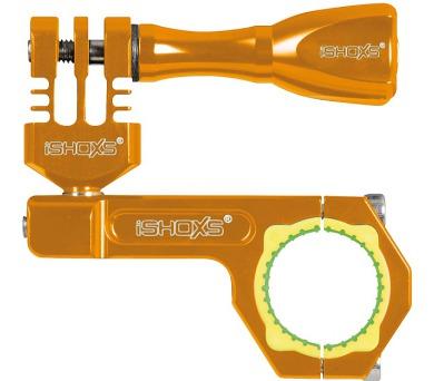 Rollei Bullbar 23 - profesionální držák na řídítka pro GoPro a ROLLEI/ Oranžový (21551)