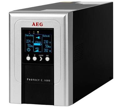 AEG UPS Protect C.1000/ 1000VA/ 800W/ 230V/ online UPS + DOPRAVA ZDARMA