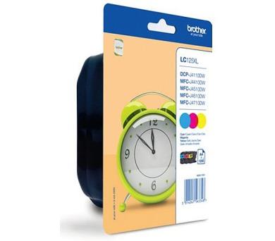 BROTHER inkoustová náplň LC-125XLRBWBP multipack 3 barvy (C/M/Y)