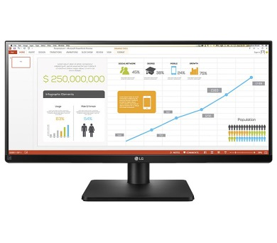 "LG monitor IPS LED 29UB67 29""ultrawide/2560 x 1080/ 300cdm2/ 5ms/ M:1/ DVI/ 2xHDMI/ DP/ USB/ rpto/ pivot/ černý (29UB67-B.AEU)"