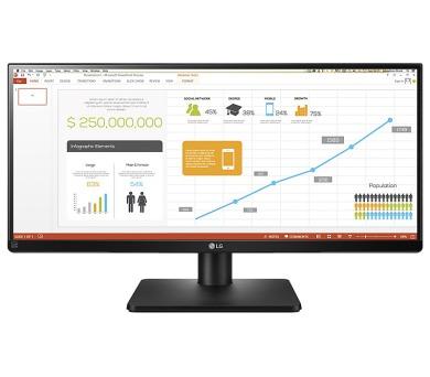 "LG monitor IPS LED 29UB67 29""ultrawide/2560 x 1080/ 300cdm2/ 5ms/ M:1/ DVI/ 2xHDMI/ DP/ USB/ rpto/ pivot/ černý"