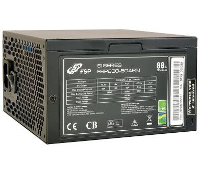 FORTRON zdroj 600W FSP600-50ARN / 120mm fan / akt. PFC / 88+
