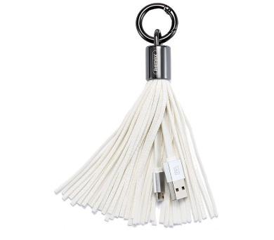 REMAX elegantní datový kabel / RC-053M / USB 2.0 typ A samec na USB 2.0 micro-B / 20 cm / bílý