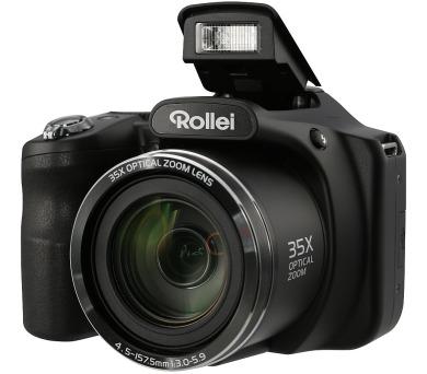 "Rollei Powerflex 350/ 16 MPix/ 35x zoom/ Stabilizace/ 3"" LCD/ FULL HD/ Černý"