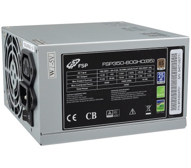 FORTRON zdroj 350W FSP350-60GHC / 80mm fan / akt. PFC / BRONZE 80+