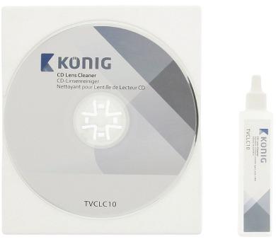 KÖNIG sada na snadné a bezpečné čištění optiky CD a DVD přehrávačů/ čistící roztok/ 20ml (TVCLC10)