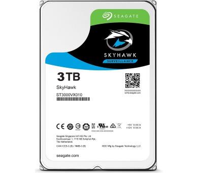 """Seagate SkyHawk 3TB HDD / ST3000VX010 / Interní 3,5"""" / 5900 rpm / SATA 6Gb/s / 64MB + DOPRAVA ZDARMA"""