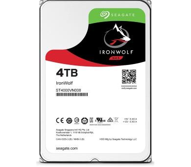 """Seagate IronWolf 4TB HDD / ST4000VN008 / Interní 3,5"""" / 5900 rpm / SATA 6Gb/s / 64 MB + DOPRAVA ZDARMA"""
