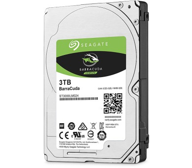 "Seagate BarraCuda 3TB HDD / ST3000LM024/ Interní / 2,5"" / 5400 rpm / SATA 6Gb/s / 128MB"