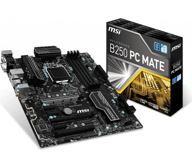 MSI B250 PC MATE / LGA1151 / Kaby Lake / 4x DDR4 (max. 64GB) / ATX